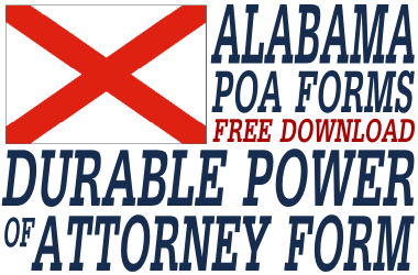 Alabama Durable Power of Attorney Form