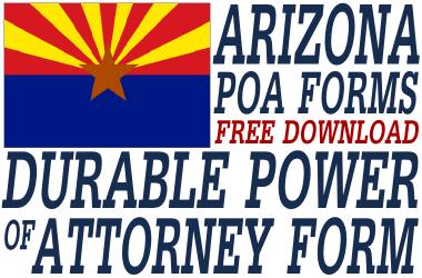 Arizona Durable Power of Attorney Form