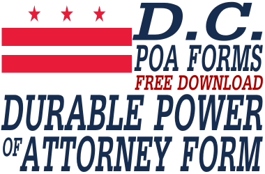 District of Columbia Durable Power of Attorney Form
