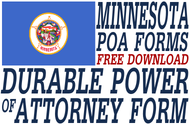 Minnesota Durable Power of Attorney Form
