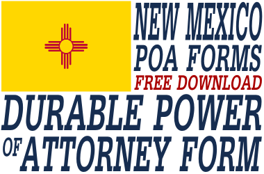 New Mexico Durable Power of Attorney Form - Durable Power of ...
