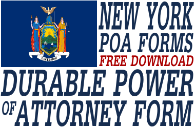 New York Durable Power of Attorney Form