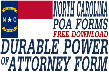 North Carolina Durable Power of Attorney Form - Durable Power of ...