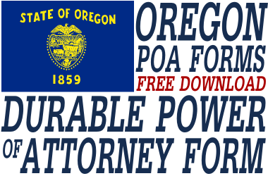 Oregon Durable Power of Attorney Form
