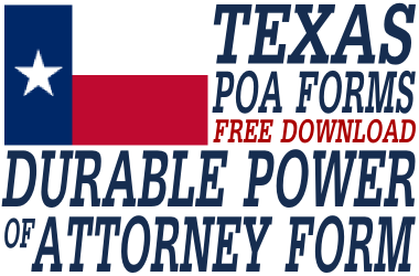 Texas Durable Power of Attorney Form