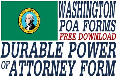 Washington Durable Power of Attorney Form