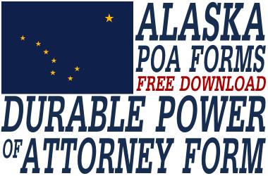 Alaska Durable Of Attorney Form