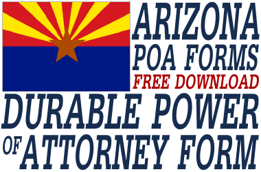 Arizona Durable Power of Attorney Form