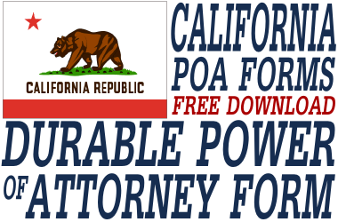 California Durable Power of Attorney Form