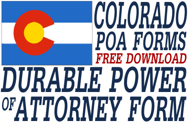 Colorado Durable Power of Attorney Form