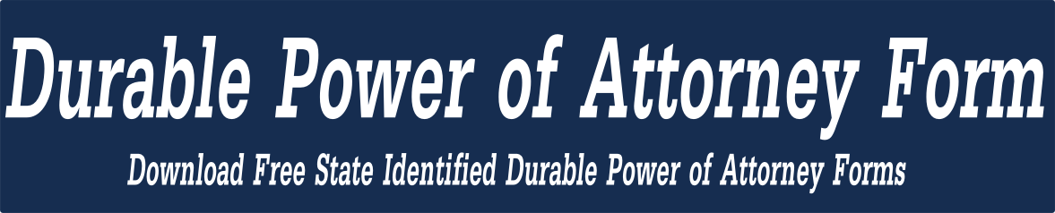 Ohio Durable Power Of Attorney Form Durable Power Of Attorney Form