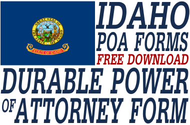 Idaho Durable Power of Attorney Form