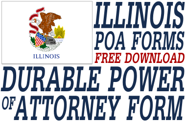 Illinois Durable Power of Attorney Form