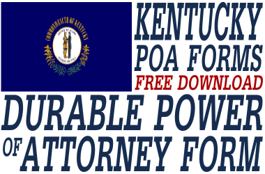 Kentucky Durable Power of Attorney Form