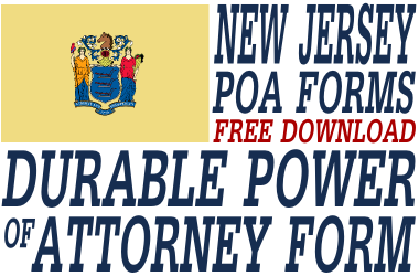 New Jersey Durable Power of Attorney Form