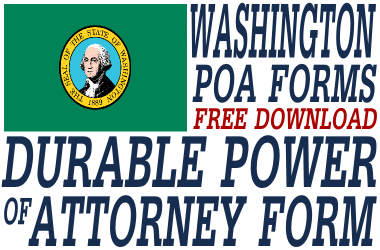 Washington Durable Power of Attorney Form